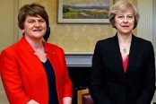 Britain's May still in talks with DUP on power deal